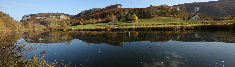 Donautal mit Burg Wildestein